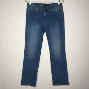 NYDJ Marilyn Straight Leg Jeans Medium Wash SZ 8P